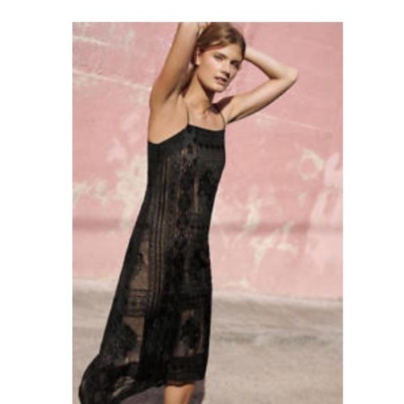 f57da9af6b07 Anthropologie Dresses & Skirts - ANTHROPOLOGIE Embroidered Luna Slip Dress-  Floreat